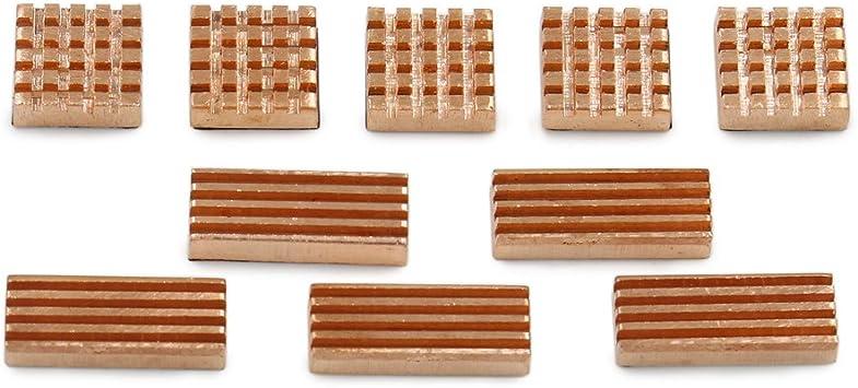 10-Pieces Adhesive Back Copper Heatsink Fin For PC VGA GPU Chipset DDR3 RAM Memory