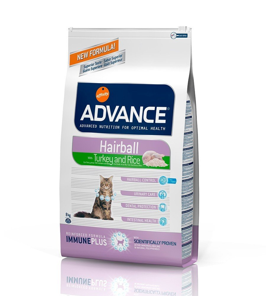 ADVANCE FELINE STERILIZED HAIRBALL POLLO Y CEBADA 10 KG: Amazon.es ...