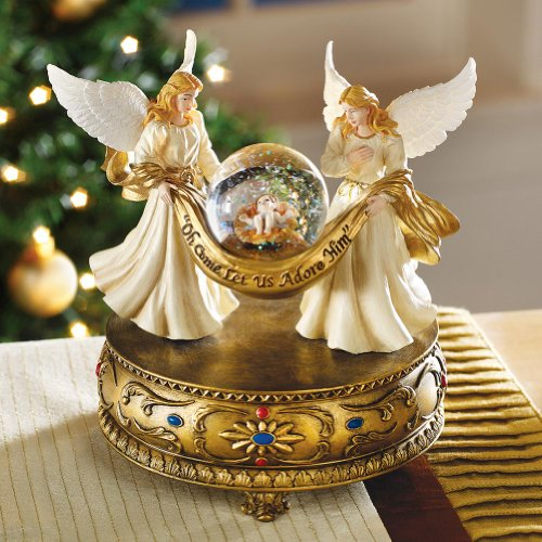 Collections Etc Musical Angels Christmas Holiday Snow Globe (Best Christmas Snow Globes)
