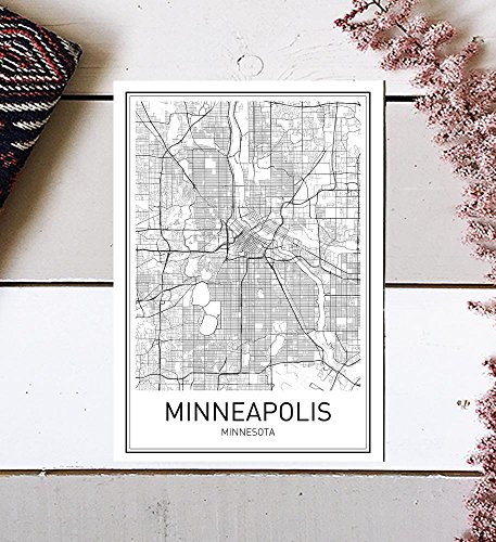 Minneapolis Poster, Map of Minneapolis, Minneapolis Map, City Map Posters, Modern Map Art, City Prints, Minneapolis Art, Minimal Print, City Poster, City Map Wall Art, minimalist posters, 8x10
