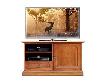 Porta tv in legno stile classico, mobile per tv ciliegio per ...