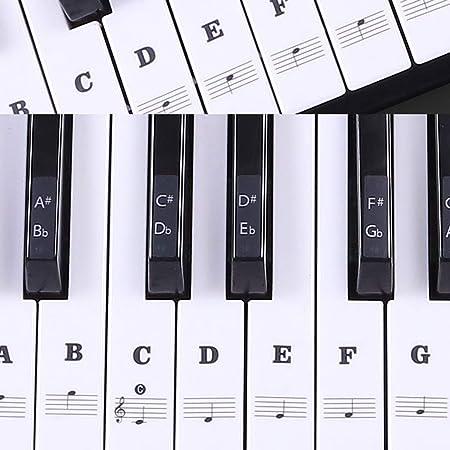 renxinu Piano pegatinas para teclado Musical A 49/54/61/88 ...