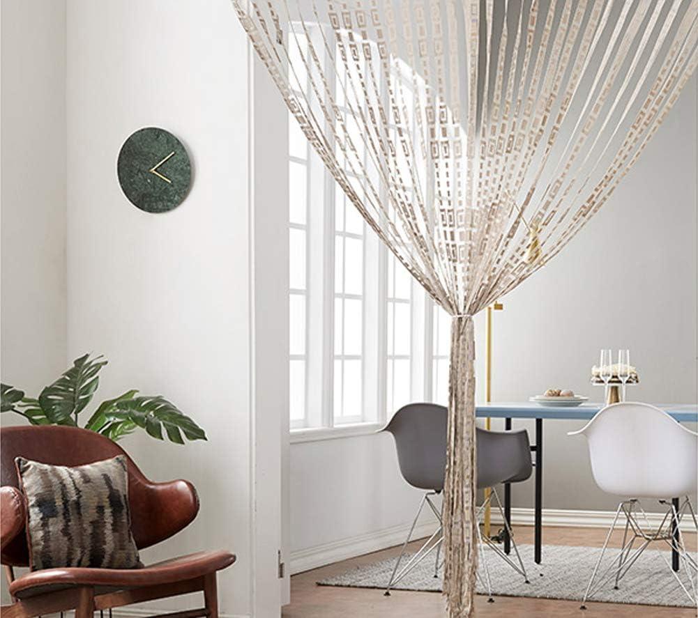 39x79inch fgdsa Wohnzimmer Dekorative String Vorh/änge Panel,Rod Taschent/ür Vorhang,String T/ür Vorhang F/ür T/ürteiler A 100x200cm