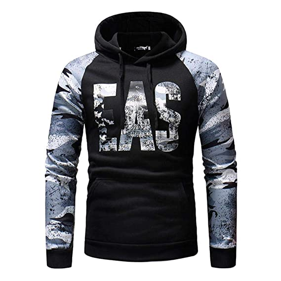 Amazon.com: WM & MW Mens Hooded Sweatshirt Autumn EVS Printed Camouflage Casual Pullover Hoodie Outwear Tops: Clothing