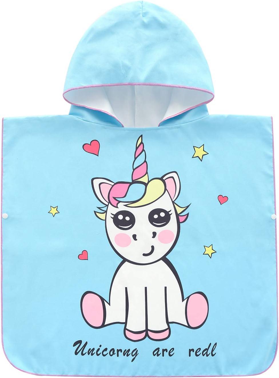 SpunKo Microfiber Hooded Pool Towel for Kids