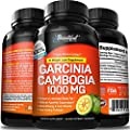 Garcinia Cambogia 100% Pure Extract. Proven Appetite Suppresant, Weight Loss Aid, Fat Burner, Diet Pills that Work Fasf for Women & Men. Detox, Cleanse, Trim, Slim, Ultra HCA 60% Premium 1000mg