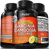 GARCINIA CAMBOGIA (1 Bottle) 100% Pure Extract. Appetite Suppressant, Fat Burner, Weight Loss Pills, Diet Pills that Work Fast for Women & Men Para Adelgazar, Perder y Bajar De Peso Rapido