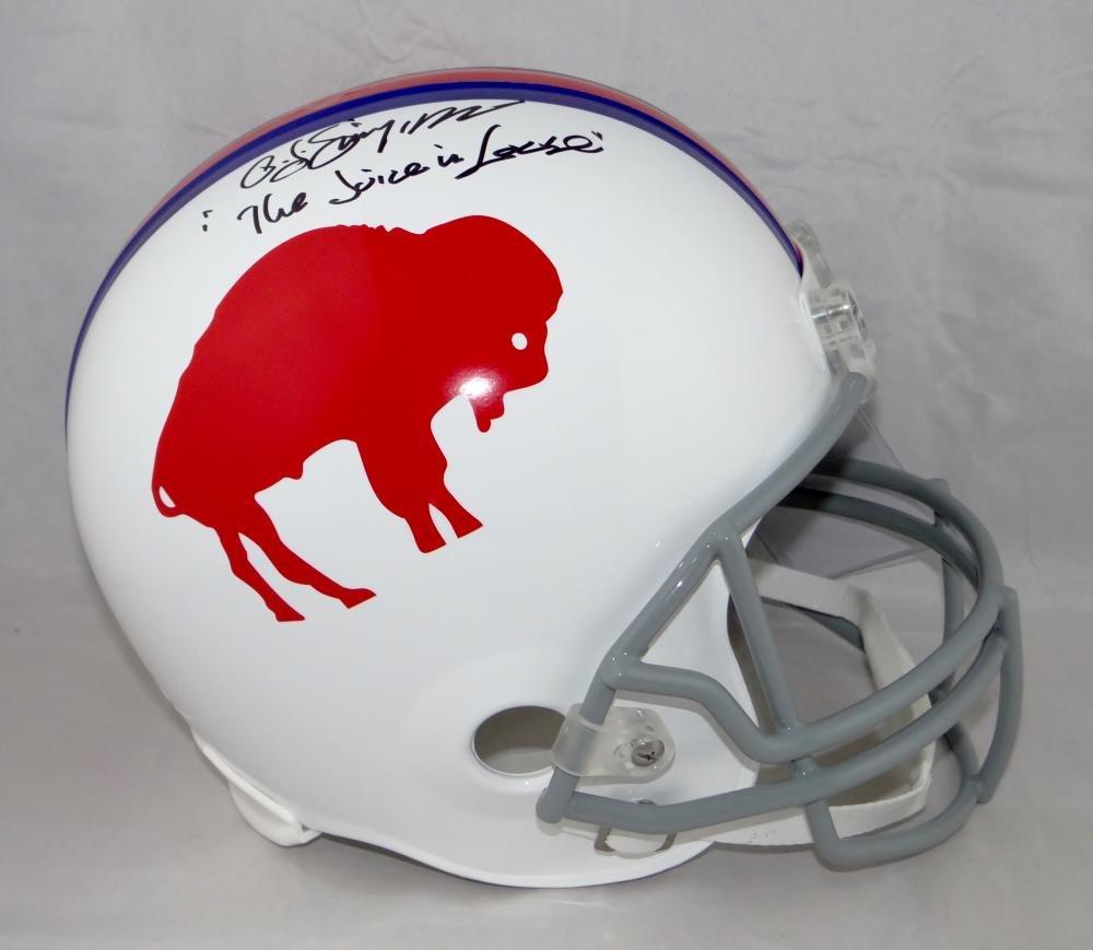 O Simpson Signed USC Trojans F//S Schutt Helmet W//Heisman J JSA W Auth White Top