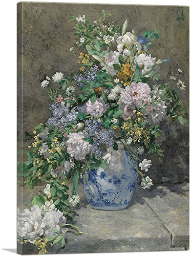 ARTCANVAS Spring Bouquet 1886 Canvas Art Print by Pierre-Auguste Renoir- 26