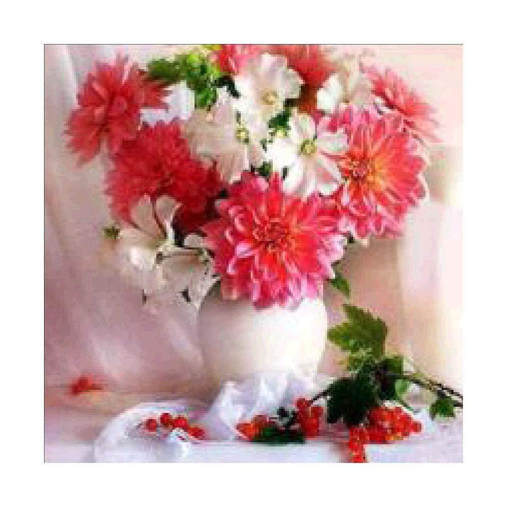 Vosarea 5d DIY sin Marco Bordado de Diamantes Pintura de Flores Rojas y Blancas Hechos a Mano Punto de Cruz impresión artesanía