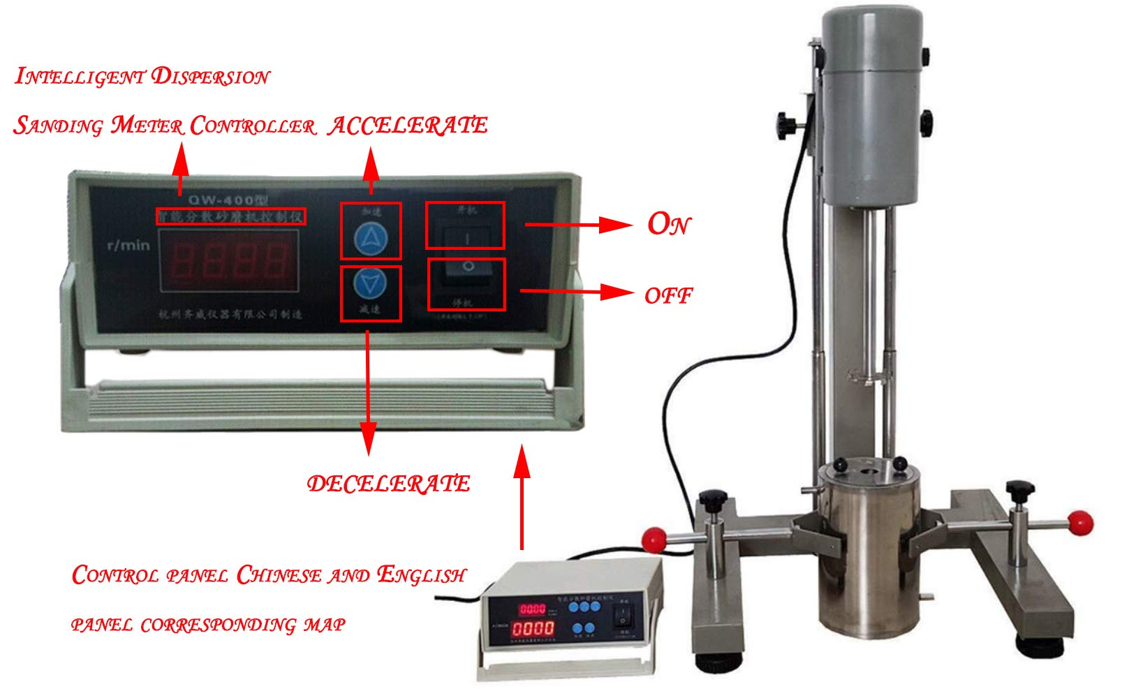 VTSYIQI High Speed Digital Laboratory Disperser Mixer Lab Homogeneous Dispersing Machine emulsifying Mixer with Motor Power 400W FS-400D for Disperse and homogenize Testing by VTSYIQI (Image #1)