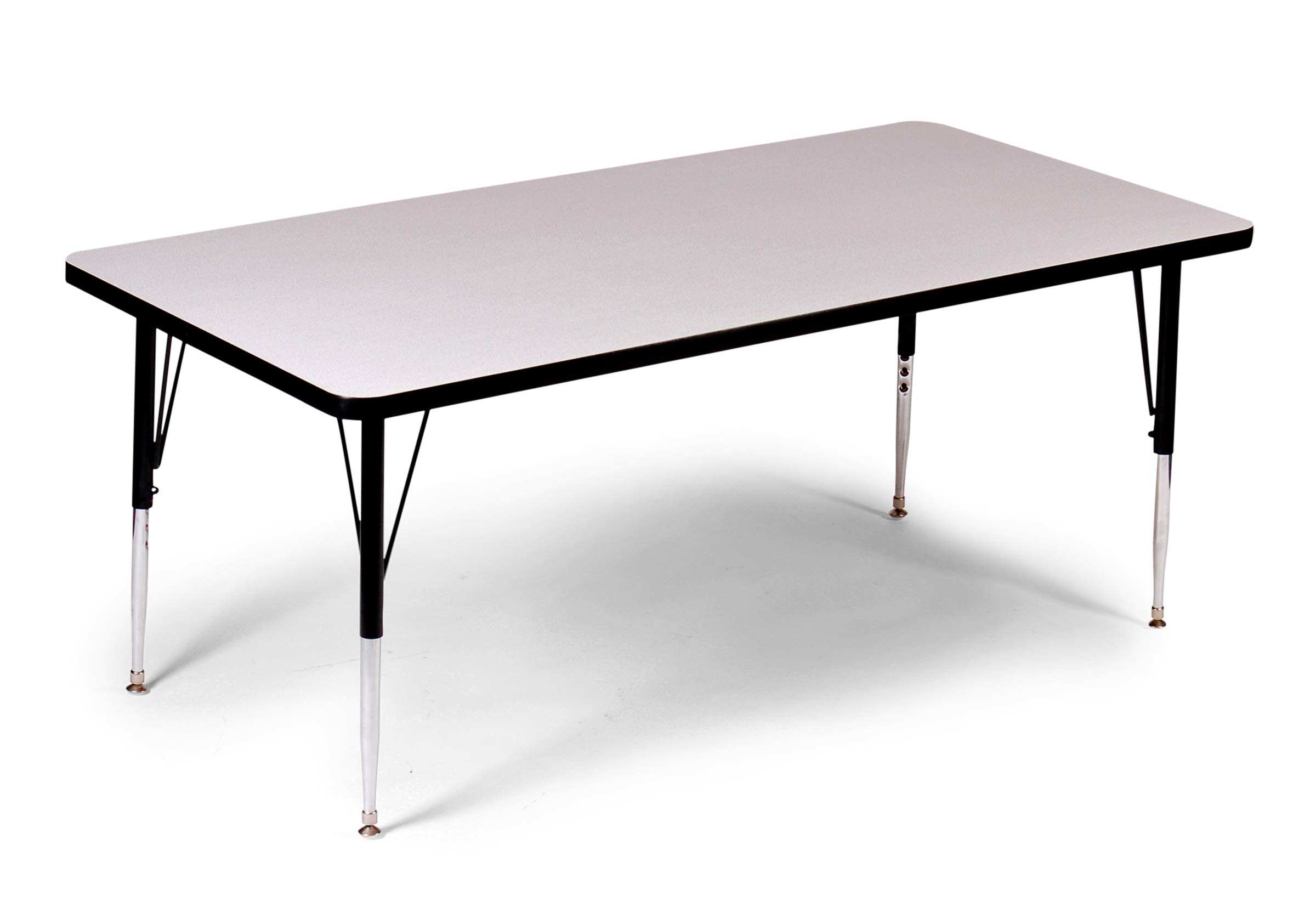 Correll A2460-REC-15 Rectangular Top Activity Table 24'' x 60'' Gray Granite by Correll