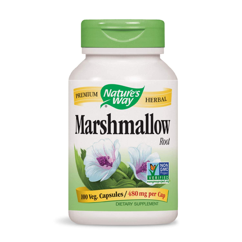 Nature's Way Premium Herbal Marshmallow Root 480 mg per capsule, 100 VCaps (Packaging May Vary)