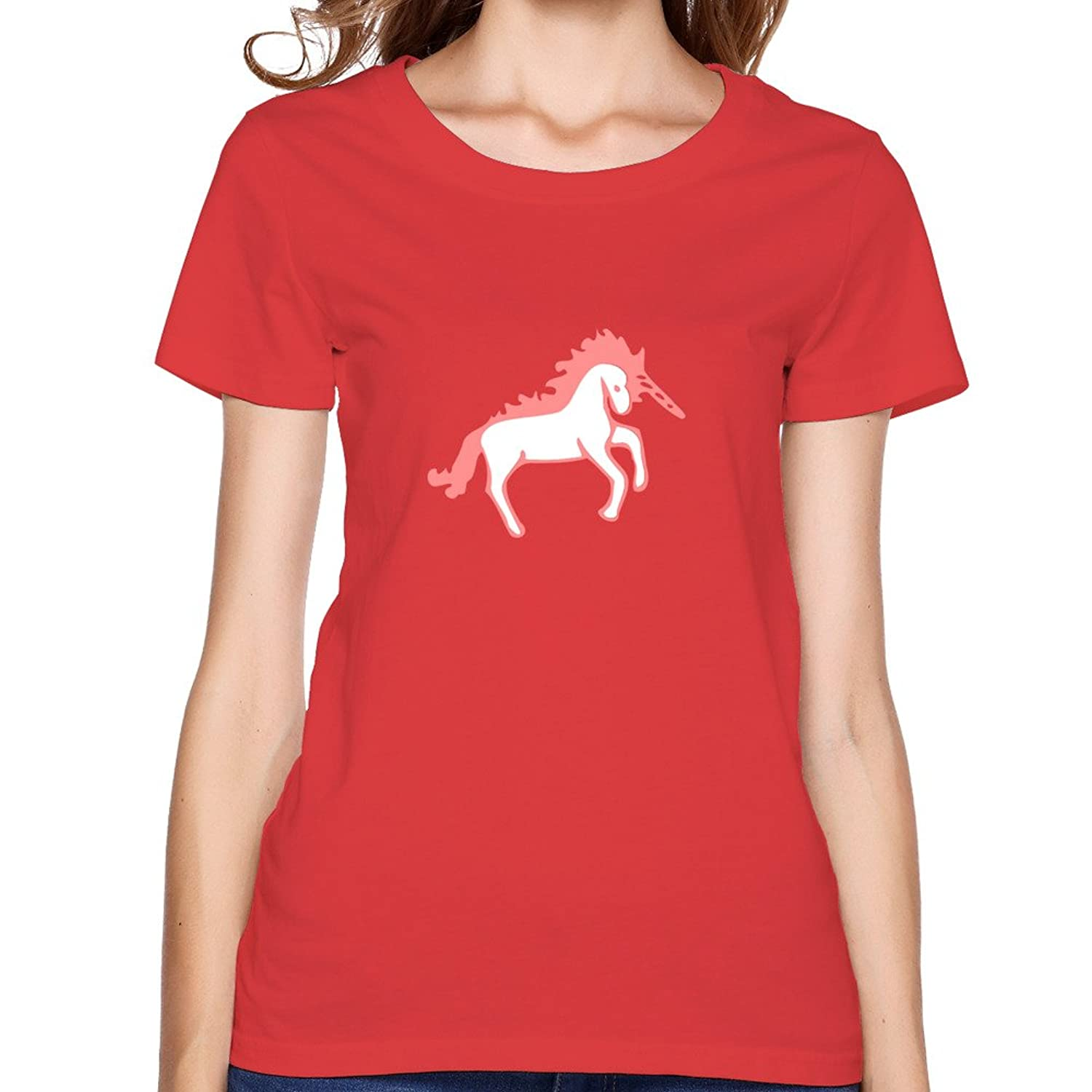 Women's Tee Pink Unicorn Black