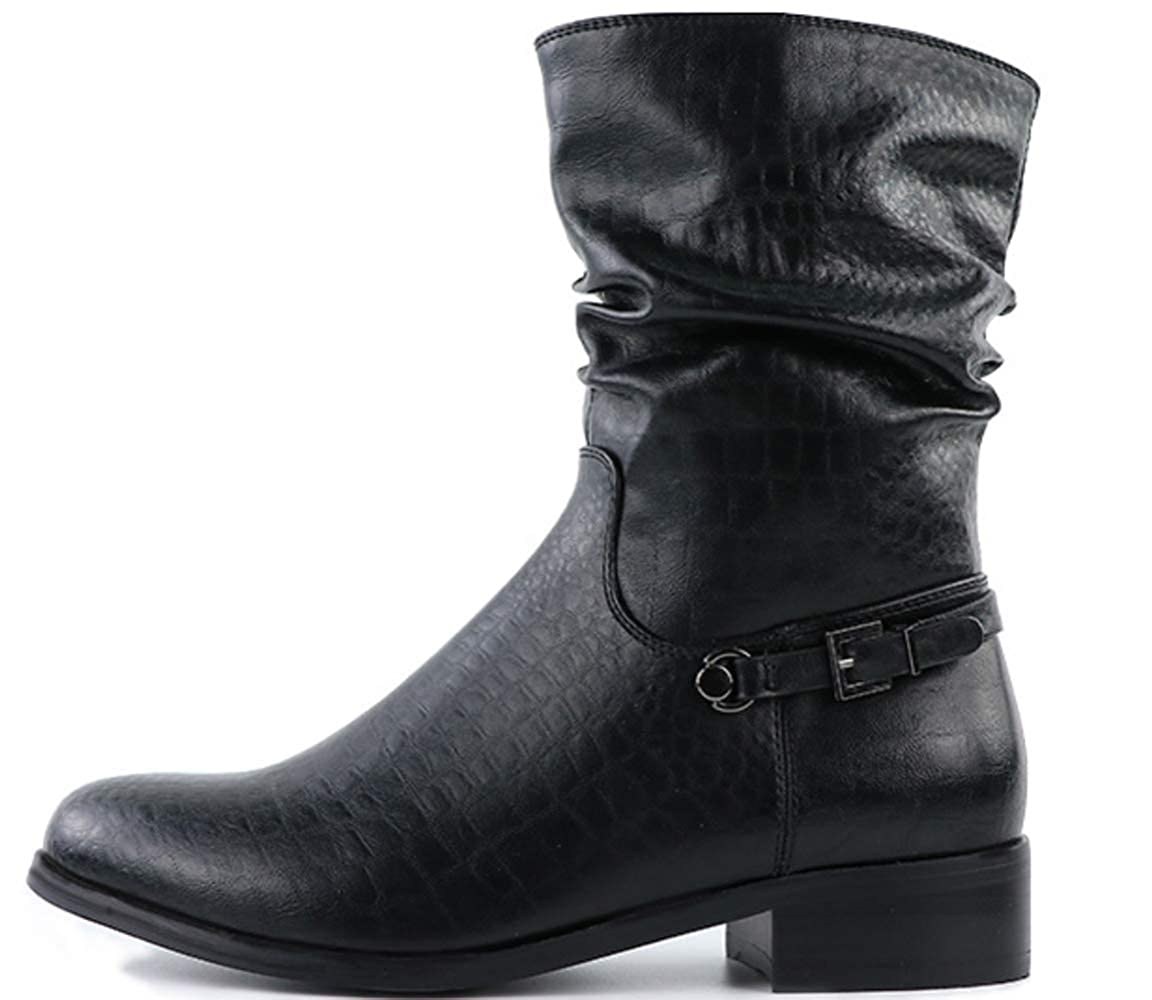 Shiney 2018 Winter Damen Short Martin Stiefel Stiefel Stiefel Plus Samt Warmer Seitlicher Reißverschluss Flache Lederstiefel 42ad26