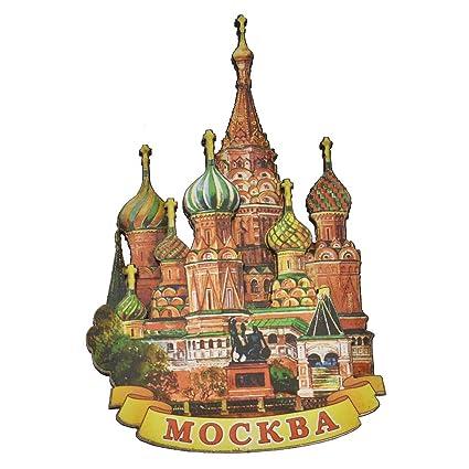 Amazon Towashine Russian Moscow Wooden Fridge Magnet Country