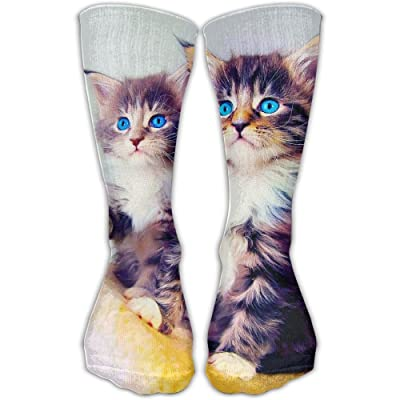 Unisex Tube Socks Crew Cats Twin Soccer Comfort Over The Calf Stockings For Sport And Travel