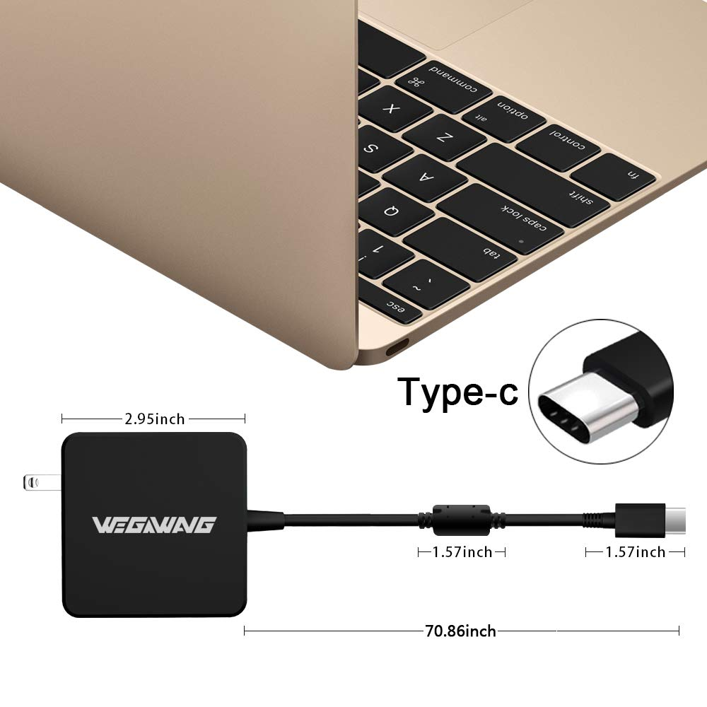 87W/90W USB-C Adapter Charger, WEGWANG Type C Power Adapter Charger 87W(Automatically Compatible with 61W, 45W, 30W and 12W Device) for MacBook/Pro and Any Laptops or Smart Phones with USB C by WEGWANG (Image #6)