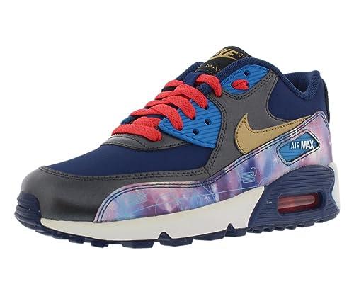 Nike Air MAX 90 Premium Leather (GS) Schuhe Metallic
