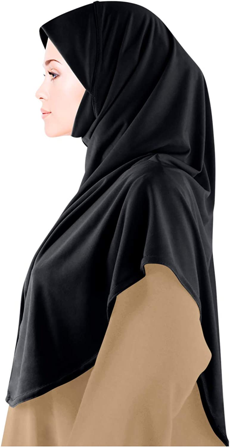 One Piece Hijab ✿ Ready Made Pull on Scarf Jersey Instant Pin free Amira islamic