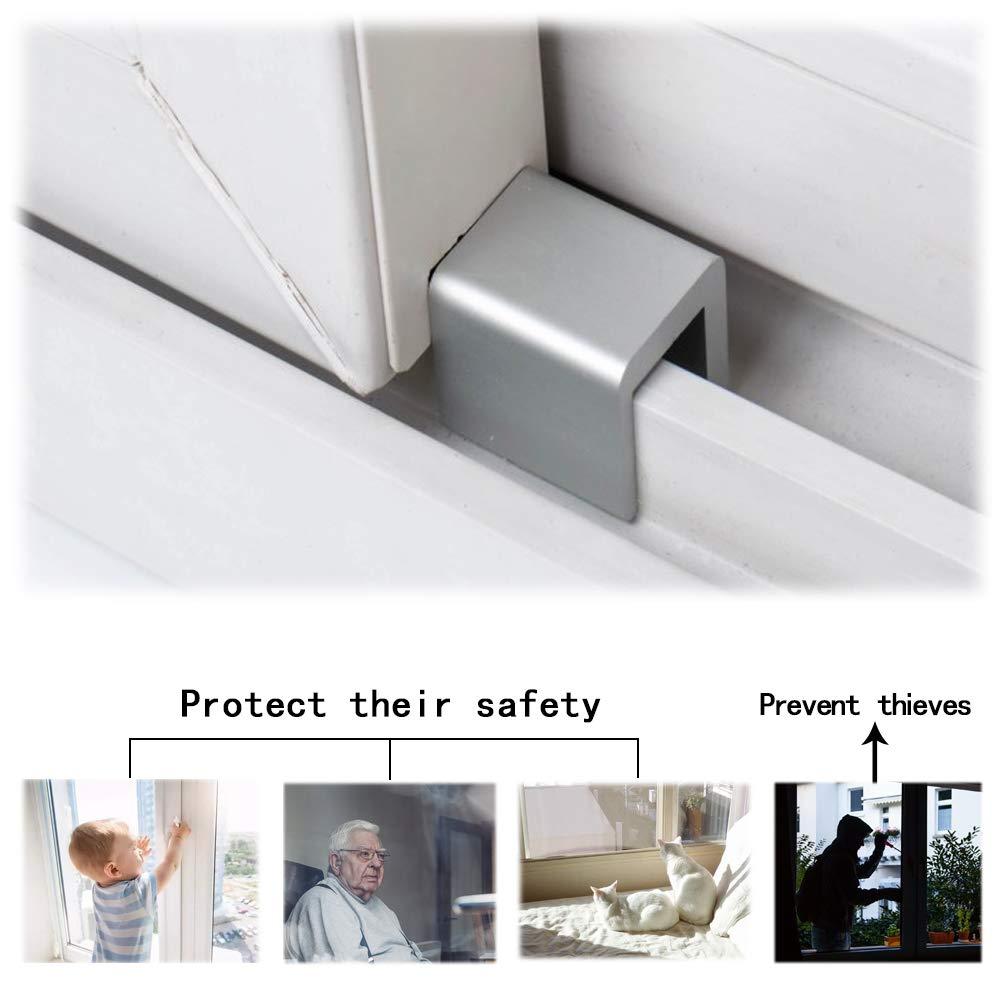 Fenstersicherung Yuccer Fenster Sicherungen Kinder Fenstersicherung f/ür Baby und Kind Sicherheit Schloss aus Aluminiumlegierung 4 PCS