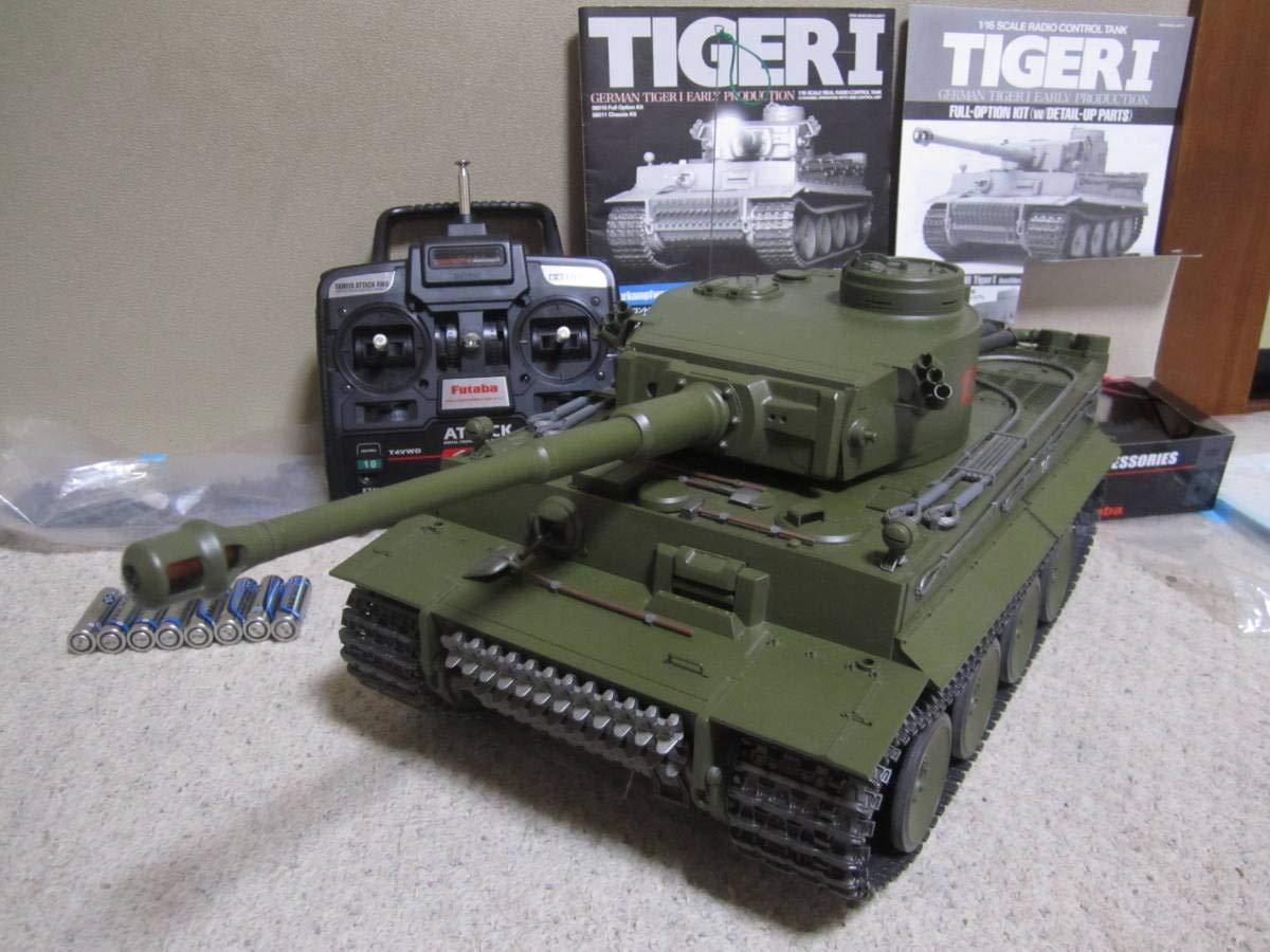 走行 1/16 ドイツ 重戦車 タイガーⅠ フルオペレーション 完全動作 フルセット フルメンテナンス 初期型 ラジオコントロールタンク B07SWV1L85