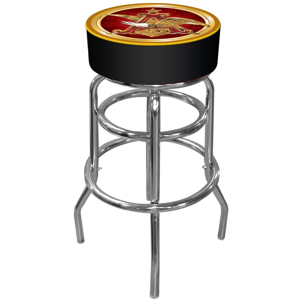 Anheuser Busch Padded Swivel Bar Stool