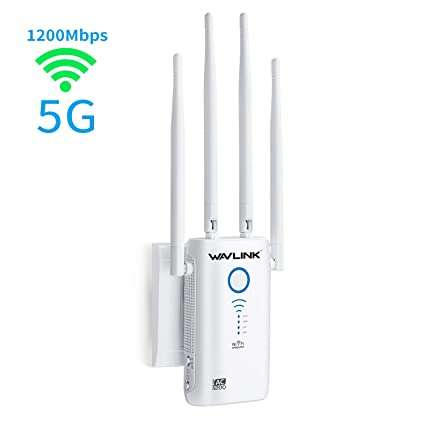 5G WiFi Booster, WAVLINK AC1200 WiFi Blast Range Extender,1200Mbps Dual  Band, 5K Signla Amplifier Repeater/Access Point/Router with 4 Band Antennas