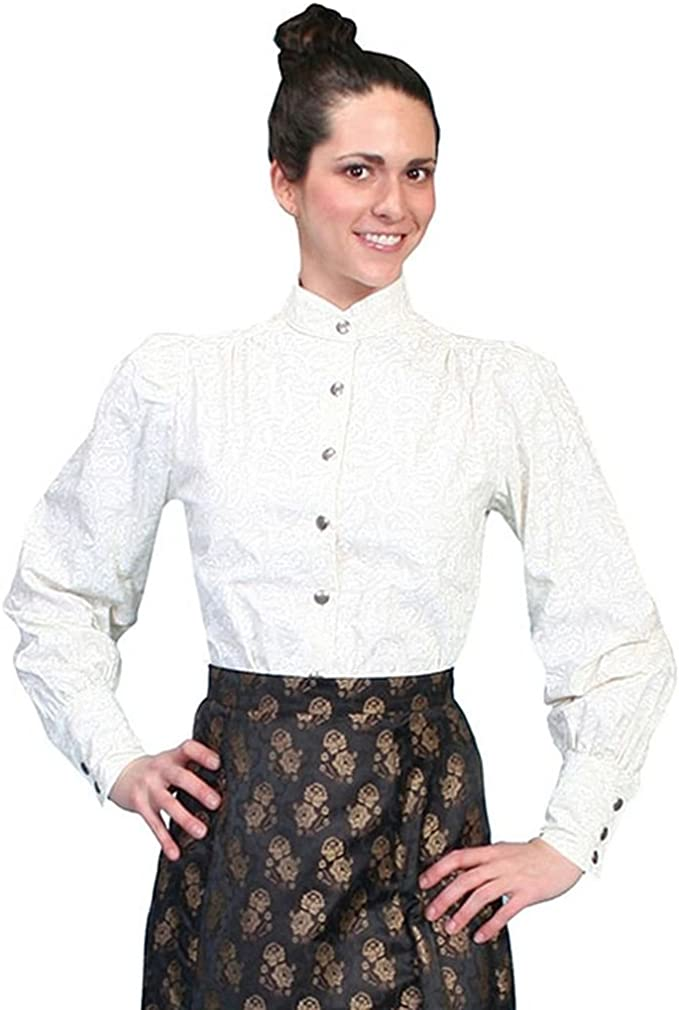 Edwardian Blouses |  Lace Blouses & Sweaters Old West Blouse  AT vintagedancer.com