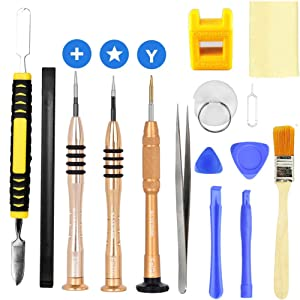 Feigo 15 Packs iPhone Repair Kit for iPhone 8/iPhone 7 – Most Complete Premium Opening Pry Tool with Magnetizer Screwdriver for iPhone X/7 Plus/6 Plus/6S/6/5/5S/5C/5/4S/4 Plus iPod/iTouch/iWatch