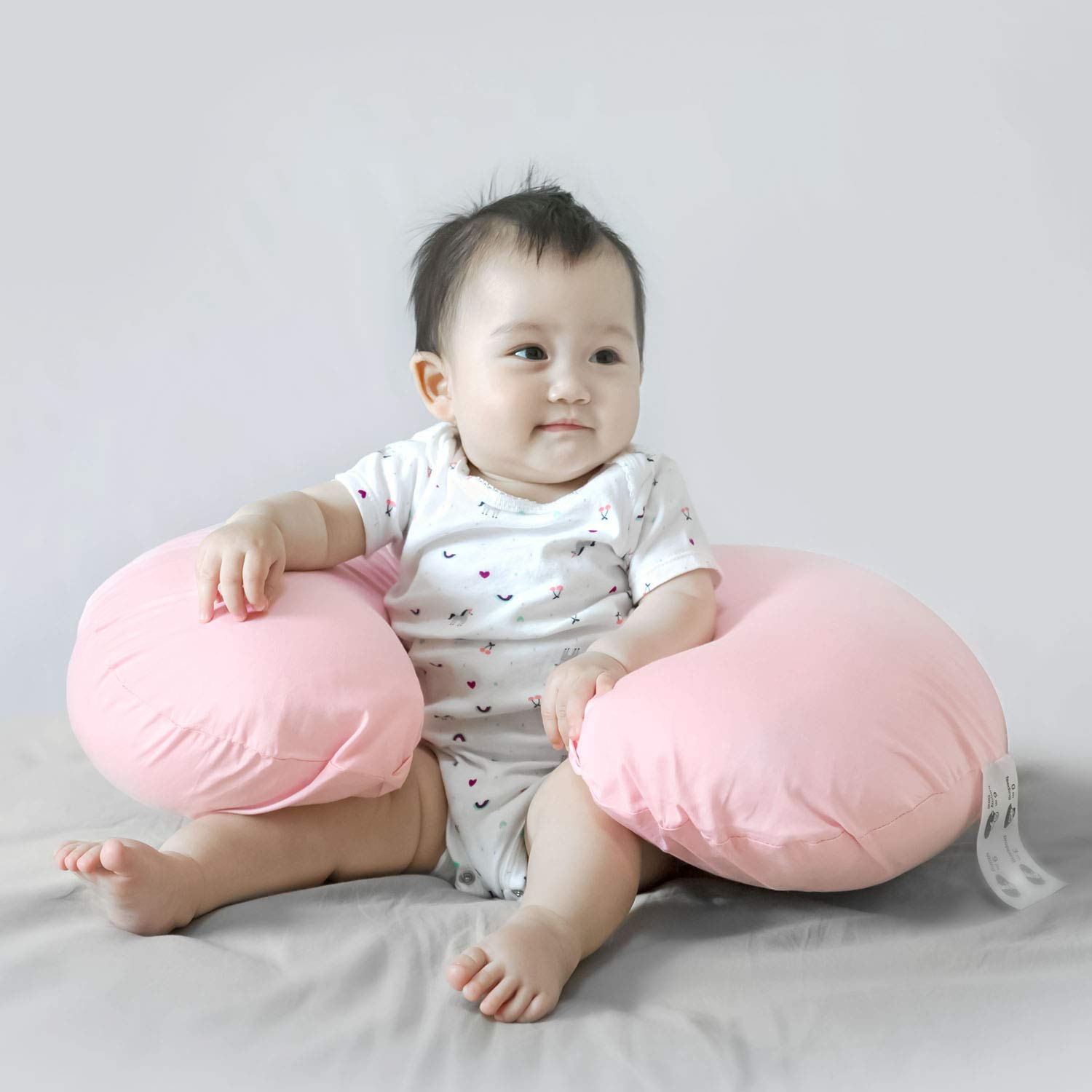 Egyptian Cotton Soft Hypoallergenic Feeding Pillow Slipcovers For Baby Boys TILLYOU Large Zipper Personalized Nursing Pillow Cover 2 Pack Navy /& Anchor Navy Blue Fits Standard Infant Support Pillow