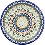 Polish Pottery 9¾-inch Lunch Plate (Sunflower Dance Theme) + Certificate of Authenticity