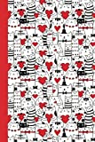 Journal: Cats and Valentines 6x9 - DOT JOURNAL - Journal with dot grid paper - dotted pages with light grey dots (Cats and Kittens Dot Journal Series)