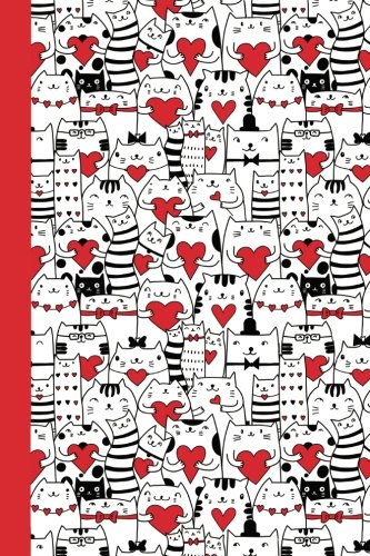 Journal: Cats and Valentines 6x9 - DOT JOURNAL - Journal with dotted pages (Cats and Kittens Dot Journal Series)