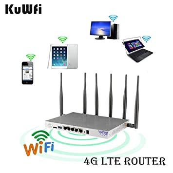 KuWFi 4G LTE 802 11AC 1200Mbps Dual Band 2 4-5 0GHz Wireless WiFi Router  MT7621A chipset Gigabit Port OpenWrt Wireless Router with sim Card Slot  with