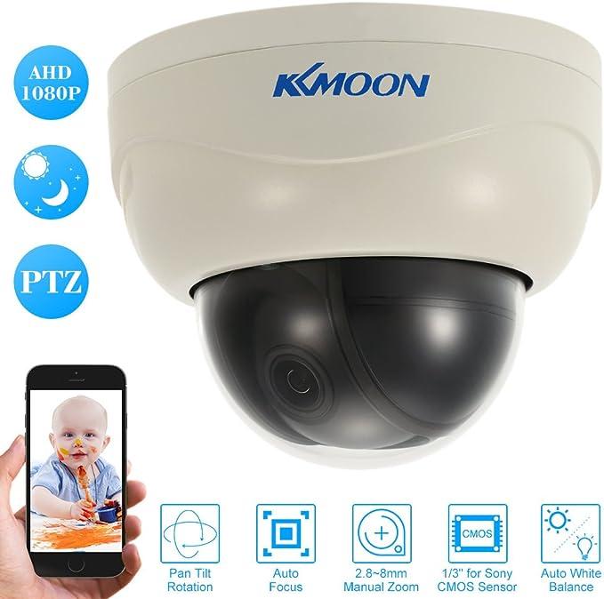 Kkmoon 3 Zoll 1080p Hd Ptz Dome Ip Kamera 2 8 8 Mm Autofokus Manuellen Vario Zoomobjektiv 2 0mp 1 3 Zoll Cmos Unterstützung Telefon App Control Motion Detection Nachtsicht Für Home Security Baumarkt