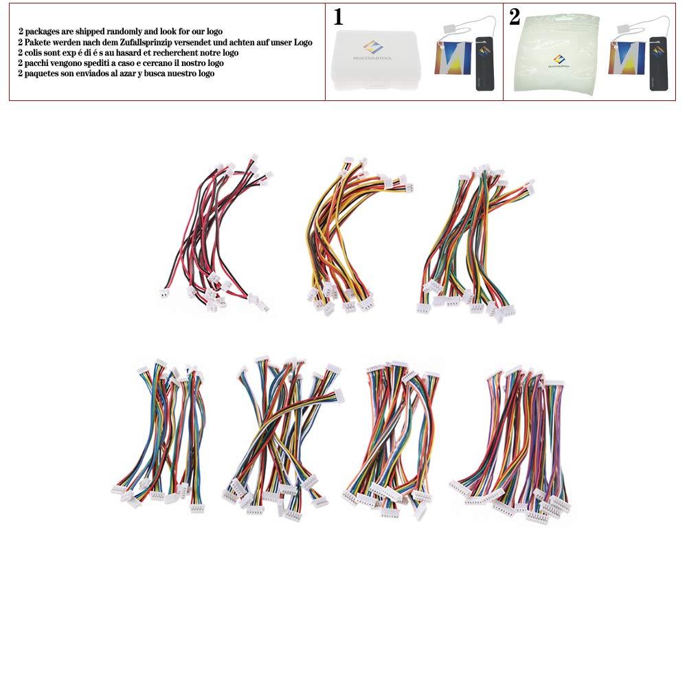 10Pcs Cable Connector XH 1.25 JST Double Electronic Wire Connectors 2//3//4//5//6//7//8 Pin 10cm DIY Line-M35,7P