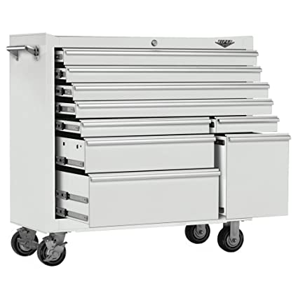 Wonderful Viper Tool Storage V4109WHR 41 Inch 9 Drawer 18G Steel Rolling Tool Cabinet,