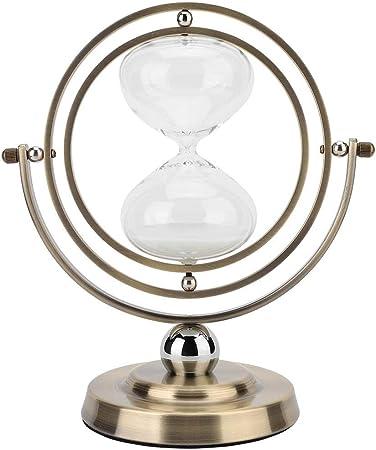 Horloge De Sable 15 Minutes Tournant Sablier Minuterie De Sable En Verre Heure En Metal Pour La Decoration Vintage Amazon Fr Cuisine Maison