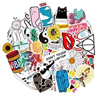 Honch Cute Pink Stickers Pack 46 Pcs Suitcase Pink Aesthetic Stickers Vinyl Decals for Teens Girls Laptop Bumper Helmet Ipad Car Luggage Water Bottle