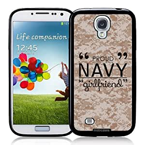Cool Painting Proud Navy Girlfriend 3 Camo - Protective Designer BLACK Case - Fits Samsung Galaxy S4 i9500