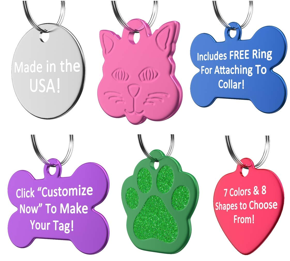 Amazon.com : Vet Recommended Pet ID Tag Dog and Cat Personalized ...