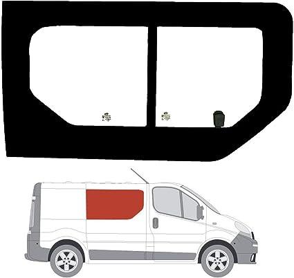 Mano derecha ventana de apertura lateral transparente para Panel lateral para Vauxhall Vivaro (2002 – 2014): Amazon.es: Coche y moto