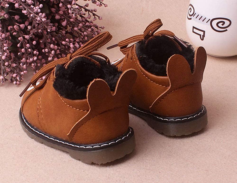 Adorable Infant Baby Boys Girls Winter Warm Boots 3-18 Months Cartoon Fur Sneaker Snow Shoes