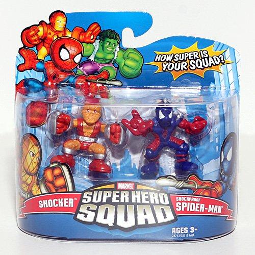 Marvel Superhero Squad Series 11 Mini 3 Inch Figure 2Pack Shocker & Shockproof SpiderMan