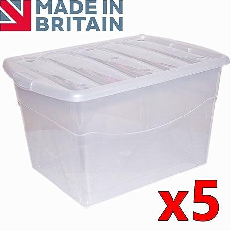 CrazyGadget® – Caja contenedor de plástico extra grande, 100 L,