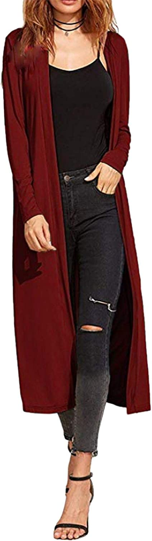 con Colletto ed Aperto sul Davanti Re Tech UK Maxi Cardigan a Maniche Lunghe