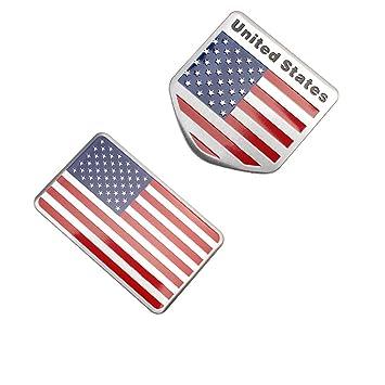 Tekimbe Fashion 2 Usa Flagge Auto Emblem Badge Aufkleber