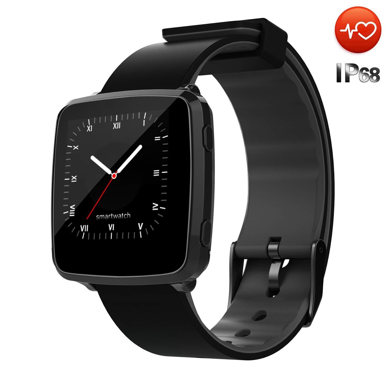 CanMixs Smart Watch Impermeable IP67 CM09 Fitness Tracker con Monitor de Ritmo cardíaco Podómetro Monitor de sueño SMS Cronómetro Notificación de ...