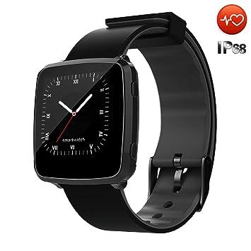 CanMixs Montre Connectée Smartwatch Etanche IP67 CM09 Fitness Tracker Montre avec Moniteur de fréquence Cardiaque Podomètre